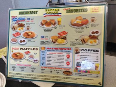 See the entire Waffle House Menu with prices, including the Waffle House Breakfast Menu and dinner + burger menus.