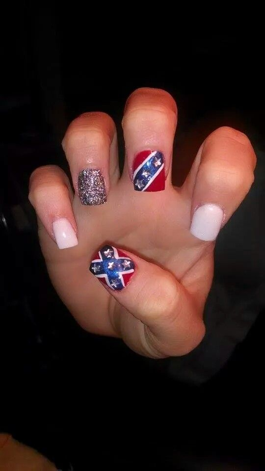 Country girl rebel flag nails by: Britney Fuller