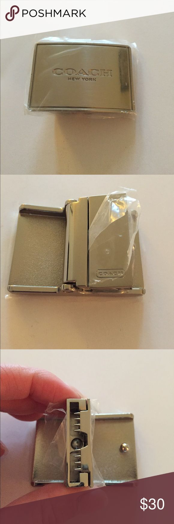 Coach Belt Buckle Only Brand new men's Coach Belt Buckle. Can be attached to any leather belt that accepts changing out the buckle. Coach Accessories Belts