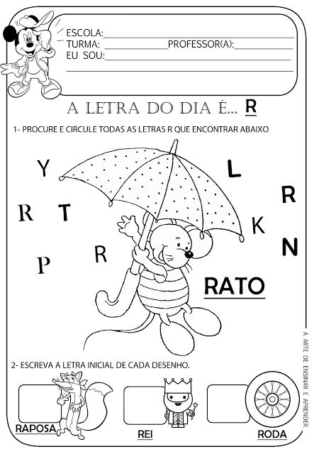 Atividade pronta - Letra R