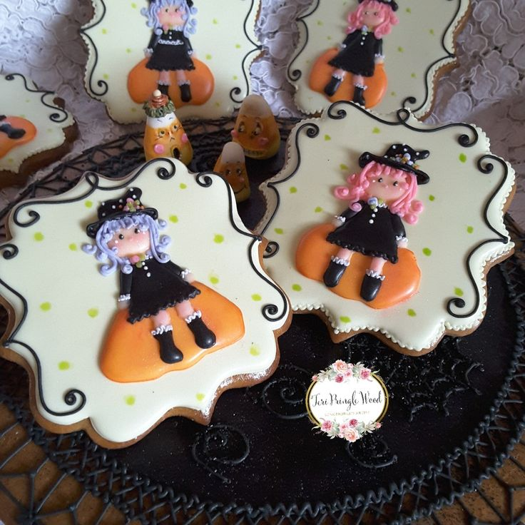 halloween cookies gingerbread cookies decorated gingerbread cookie decorating witch cookies - Halloween Gingerbread Cookies