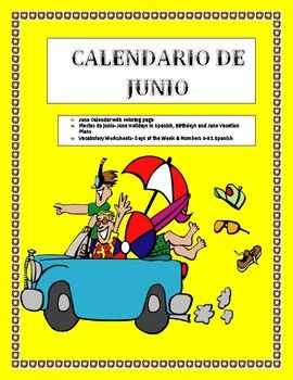 This wonderful and exciting lesson is an amazing way to review days of the week, Junel holidays and numbers from 0-31 in a single lesson plan. The lesson includes:- • Calendario de junio del 2017 • Practice Worksheet- Includes June holidays in Spanish, Writing prompt for