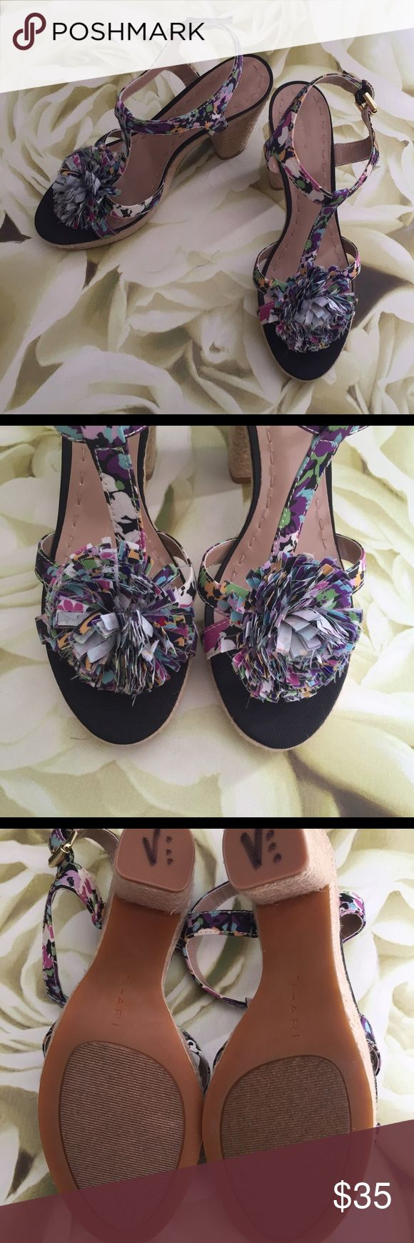 Tahari • Floral Espadrilles • NWOT Never worn! Floral print with a fun Pom! Perfect way to perk up any outfit! I ❤️ offers! Tahari Shoes Espadrilles