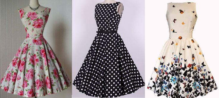 Um vestido clássico. Fiz a opção de saia godê, mas pode ser feito com saia franzida na cintura como o modelo de estampa borboleta. Esquemas de modelagem do 36 ao 56.