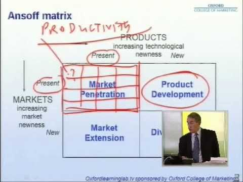 ansoffs matrix business studies gce Ansoff's matrix business studies gce ansoff matrix ansoff's matrix: a method by which businesses can classify their strategies for expansion.