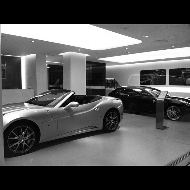 Ferrari California and the Ferrari FF. What a garage!
