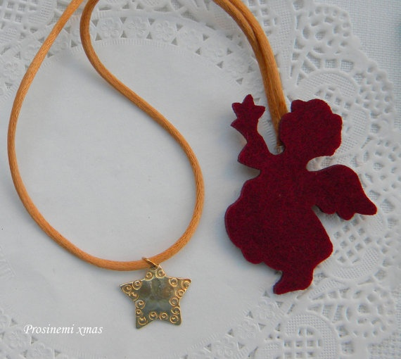 Christmas star ornament  pendant with swirls details by prosinemi, €15.00