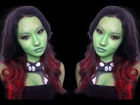 Guardians of the galaxy | Gamora makeup tutorial - YouTube