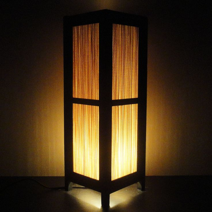 15 39 39 tall asian oriental japanese bamboo zen art bedside for Bedside table lamp shades