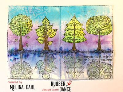 Minas kreativa: Rubber Dance and ColourCraft Blog Hop Art Journal Page with Brushos and Stamps