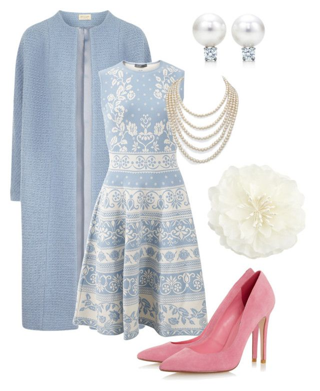 """""""овальная форма лица II"""" by juliazima ❤ liked on Polyvore featuring Alexander McQueen, DaVonna and Accessorize"""