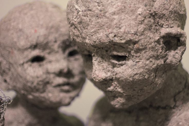 Hideout, Paper mache sculpture by Sanni Weckman