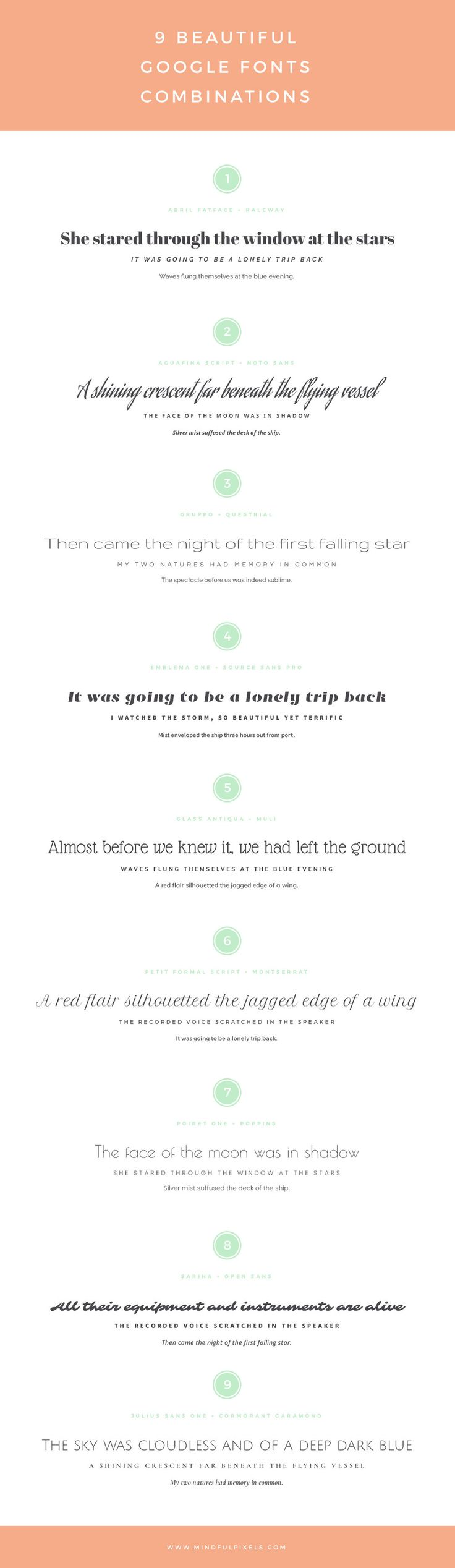 9 Beautiful Google font combinations