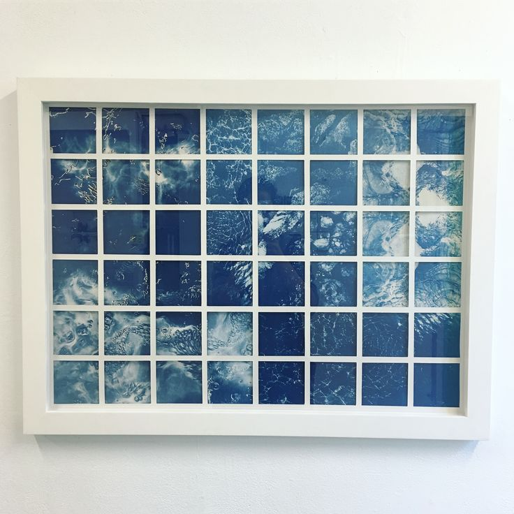 Cyanotype and drypoint on archival paper 2017 Artist Georgia Steele
