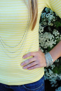 The Stella & Dot - Libby Layering Necklace and The Stella & Dot Bardot Spiral Bangle featured on the Summer Wind blog.