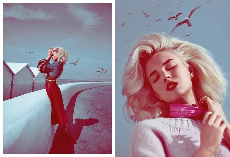 Beautiful cinematic editorial - Model: Britt Maren | Photography: Koray Birand - for Elle Russia, September 2013 | Via: Visual Optimism