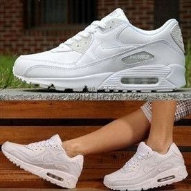 cool white shoes image , all white nike air max