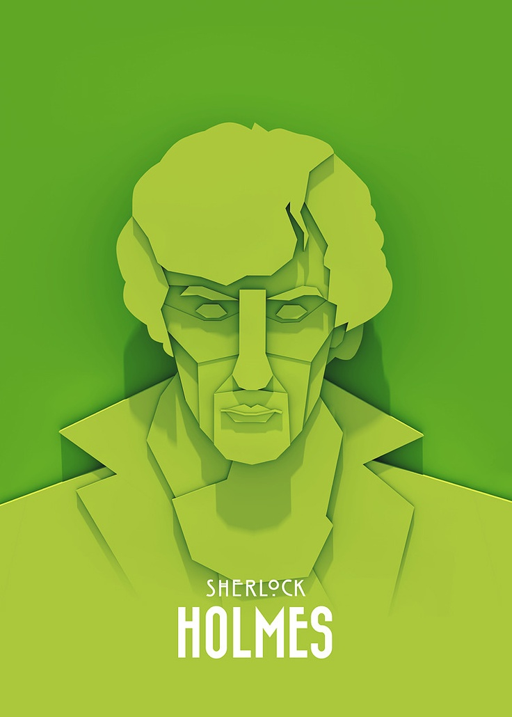 """TV Character Posters by Ariel Ratajczak    Polish designer Ariel Ratajczak created some unique illustrations of his favourite TV characters, including Walter White from Breaking Bad, Tyrion Lannister from Game of Thrones and Sherlock Holmes (Benedict Cumberbatch) from BBC's hit series """"Sherlock""""."""
