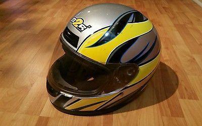 M2R Motorcycle Helmet Medium Used.