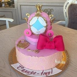 Детский торт Розовая карета