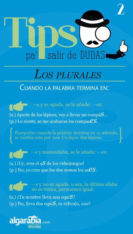 Los plurales —segunda parte—