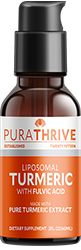 Liquid Organic Turmeric | Max Absorption with Liposomes & Fulvic Acid | PuraTHRIVE