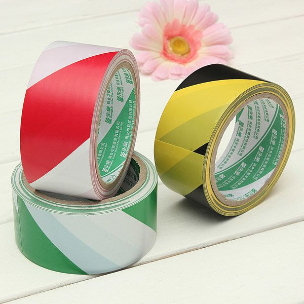 Safety Self Adhesive Warning Tape PVC Hazard Caution Tape 50mm*19m