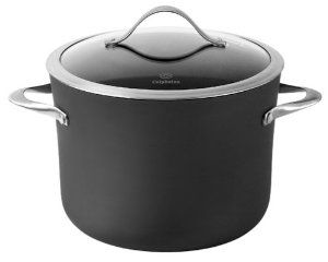 Calphalon Contemporary Nonstick 8-Quart Stockpot with Glass Lid by Calphalon. $175.00. Versatile vessel shapes: one pan suits so many recipes. Glass covers for see-through convenience and beautiful presentation; lifetime warranty. Stay-cool long handles stay comfortable through hours of stovetop cooking. Full capacity line helps prevent over-filling for easy handling from kitchen to table. Hard-anodized outside, nonstick inside combining durability and performance w...