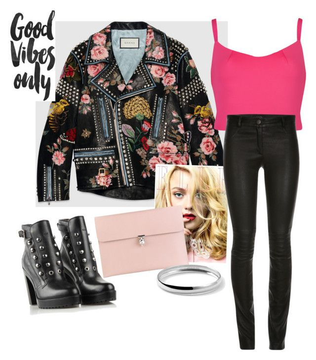 Black&Pink by soram-pauline-park on Polyvore featuring polyvore, fashion, style, Ted Baker, Gucci, Diesel, Alexander McQueen, Ippolita, women's clothing, women's fashion, women, female, woman, misses and juniors