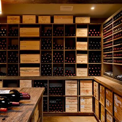 Wine cellar using square designs rather than individual bottle storage - might be easier to DIY and perhaps cheaper too. In any event some storage like this would be useful for cases and case lots