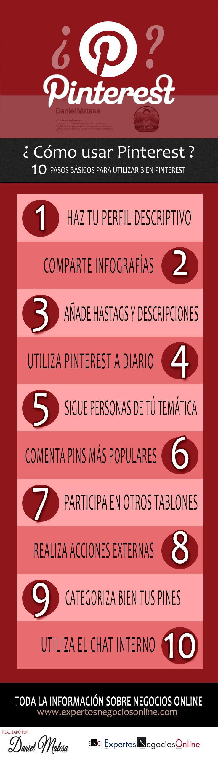Infografía sobre Pinterest. Cómo usar Pinterest? Como funciona pinterest? Trucos y consejos para usar Pinterest #Pinterest #SocialMedia #RedesSociales