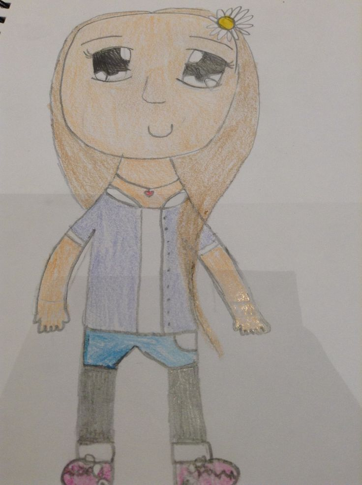 Anime girl drawing of me (kinda looks like me... I exaggerated with the hair a bit!)