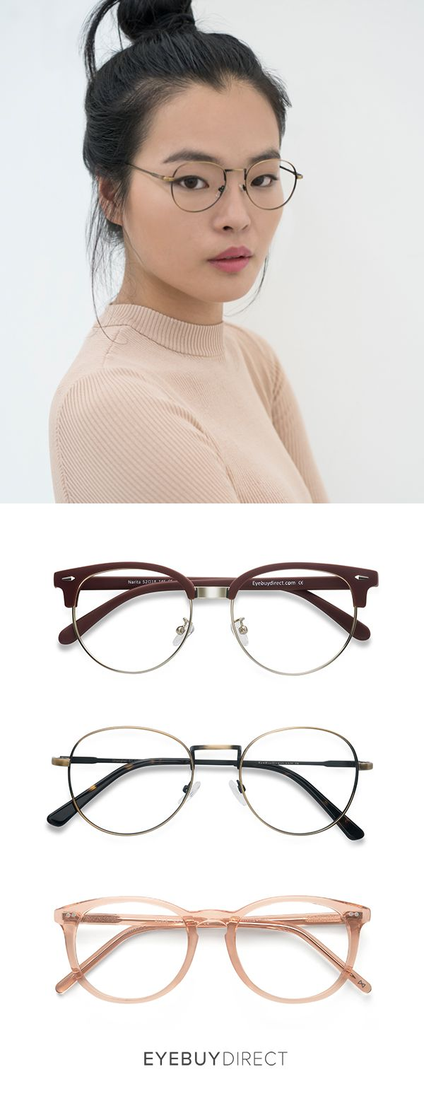 Curate your own eyewear collection with EyeBuyDirect. Discover prescription eyewear online, starting at only $6. Styles shown: Shanghai in bronze, Narita in burgundy, and Aura in champagne.