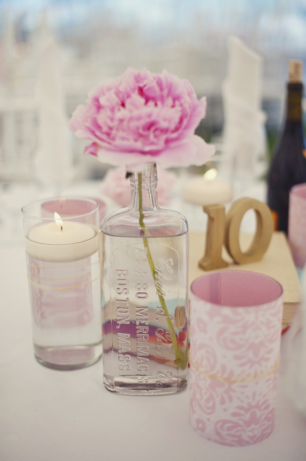 I need to start looking for different little vases/medicine bottles to use with mason jars in my centrepieces