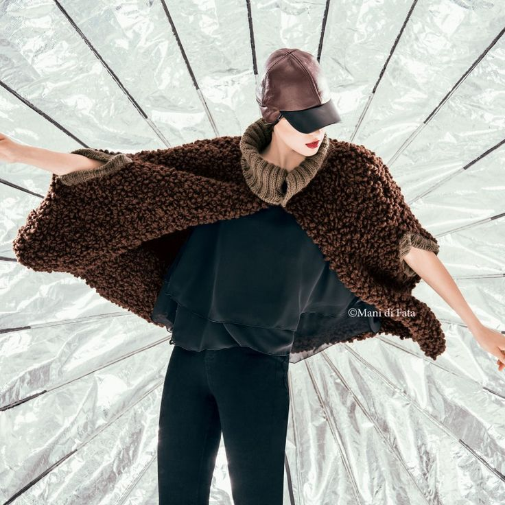 lana per fare a maglia la mantella da donna