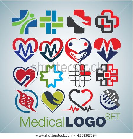 MEDICAL LOGO SET - stock vector