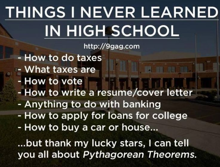 #math  What Did YOU Learn in High School?