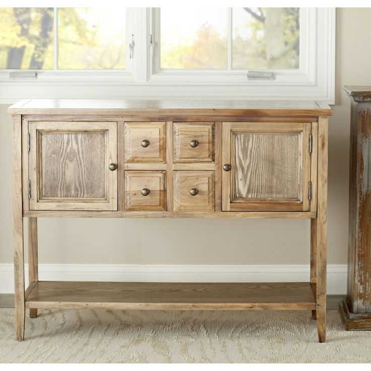 Safavieh Brighton Oak Finish Storage Sideboard   Overstock™ Shopping   Big  Discounts On Safavieh Buffets