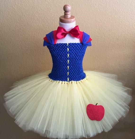 Snow White Inspired Tutu Dress This beautiful snow white inspired tutu dress is simply elegant for your sweet little princess. Great for Halloween costumes, bir