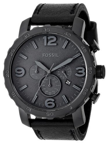 Fossil Men's JR1354 Nate Analog Display Analog Quartz Black Watch Add it to your wishlist at yourwishfromme.com