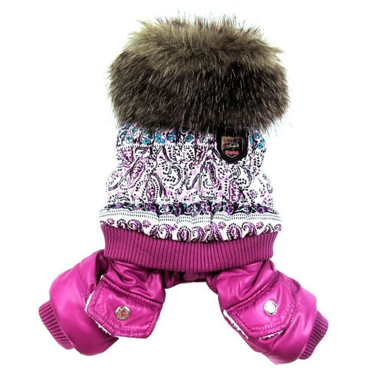 Pet Clothes New Thickening Warm Jacket Winter Dog Clothes Pet Coat Clothing Hooded Jumpsuit Warm Clothing  Dogs