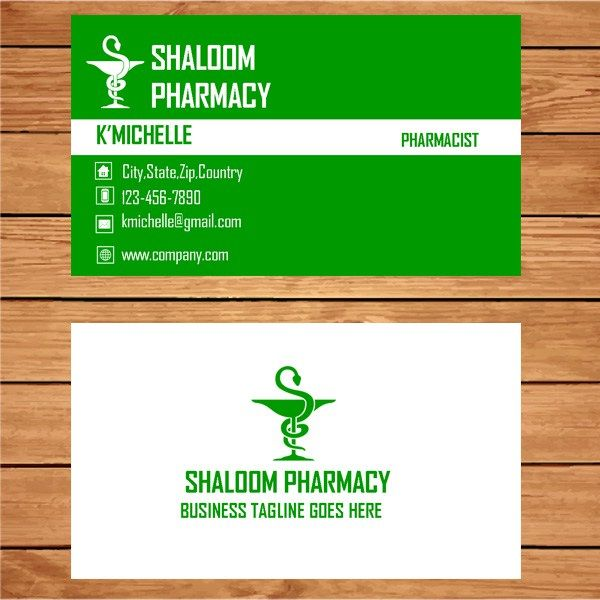 22 best business card template images on pinterest business card microsoft publisher free pharmacist business card fbccfo Images