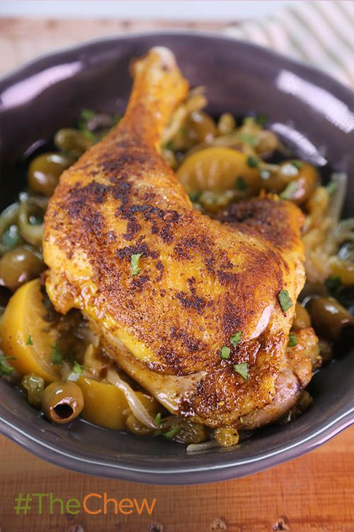 Serve up a taste of North Africa with this Tumeric, Cinnamon, and Ginger infused Moroccan Chicken by Michael Symon! #TheChew