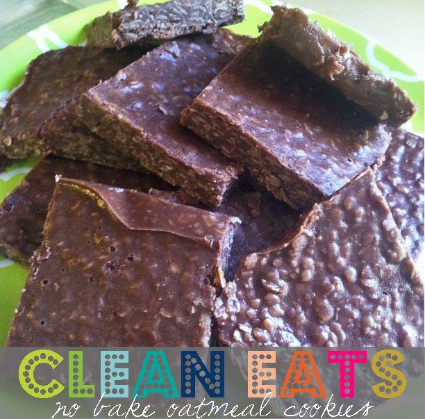 0♥♥♥CLEAN EAT SWEET TREAT♥♥♥ no bake oatmeal cookies