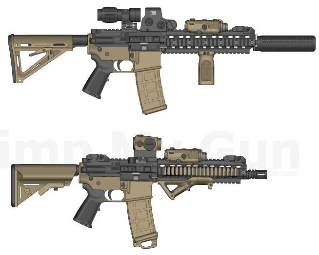 9.- Ideas for two mods, in the top a heavier setup for longer distances, in the bottom a lighter setup cqb friendly, much compact and comfortable