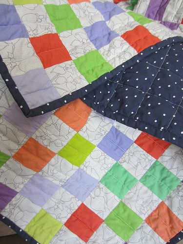 checkerboard baby quilt | Flickr - Photo Sharing! mollybquilts.blogspot.com