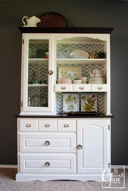 13 best China Hutch makeover repurpose images on Pinterest