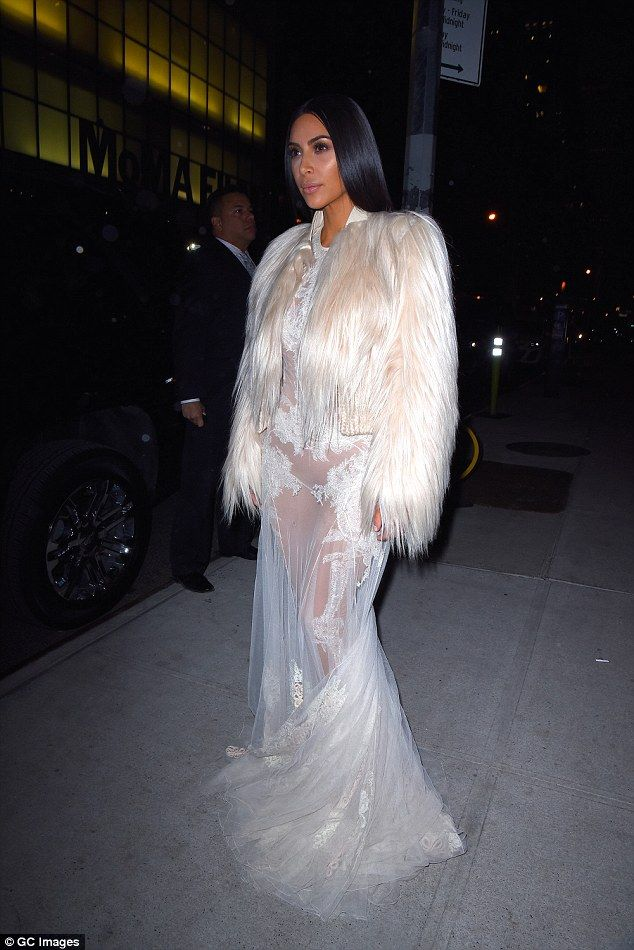 Show-stopper: Kim looked better than ever in this stunning get-up, earlier this month in Manhattan