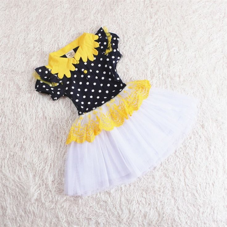 Girls Sunflower Summer Dress
