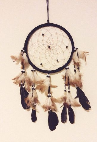 Large Black, Brown & Cream Dream Catcher